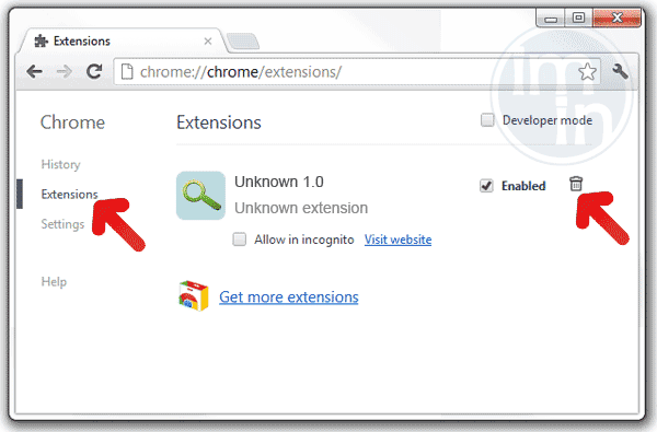 Remove Extension in Chrome