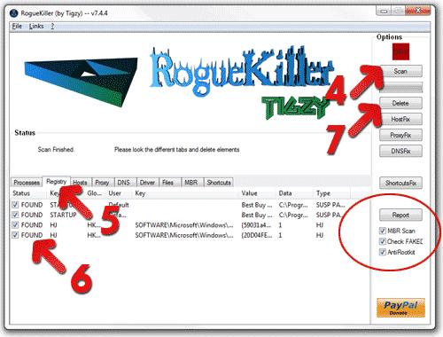 RogueKiller Scanner