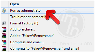 Run FakeAVRemover