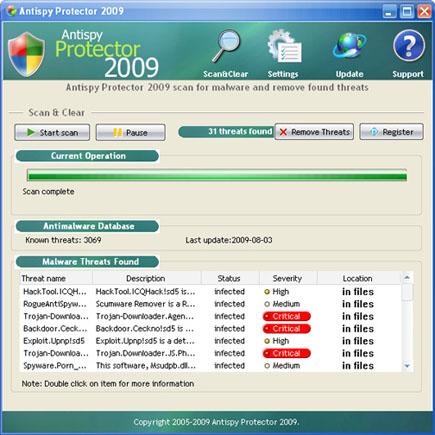 AntispyProtector2009
