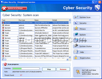 Cyber Security Virus screenshot