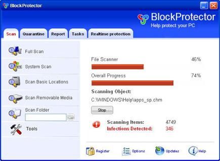 Block Protector Scanner