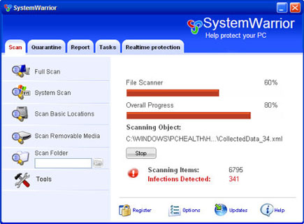 System Warrior Scanner