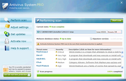 Antivirus System Pro Rogue Program