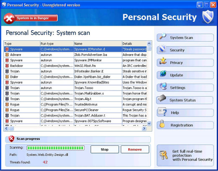 Personal Security Virus