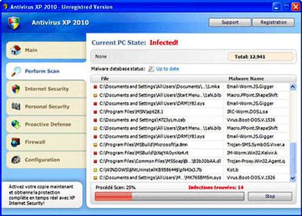 Antivirus XP 2010 Screen Shot Image