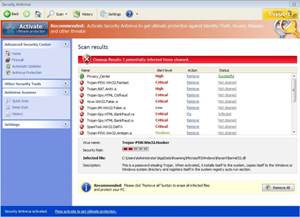 Software Antivirus Screenshot Image