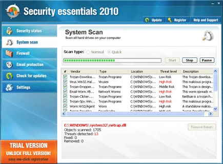 Security Essentials 2010 Screen Shot Image
