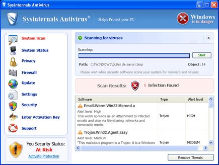 Sysinternals Antivirus Screen Shot Image