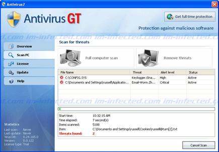 Antivirus GT Screen Shot Image