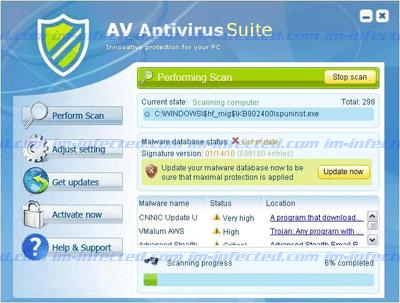 AV Antivirus Suite Image Shot