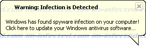 Warning: Infection is Detected Screen Shot