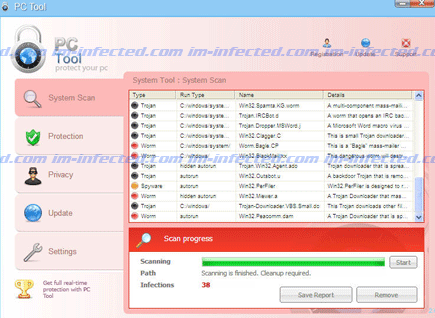 Screen Shot Image of PC Tool 2011