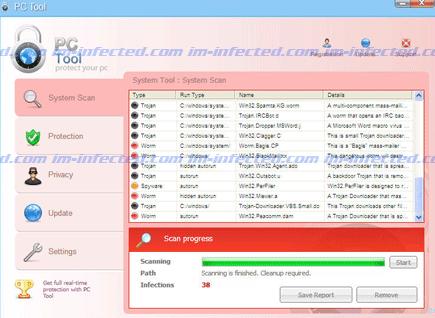 Screen Shot Image of PC Tool 2011