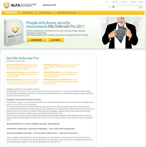 Alfa Defender Web site