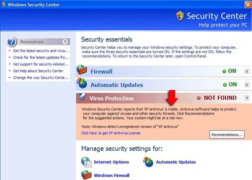 MS Security Center 2011 Scanner
