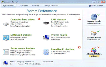Windows 7 Recovery Fake Scanner