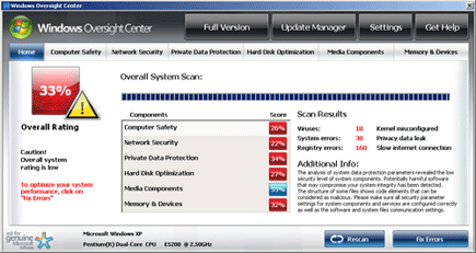 Windows Supervision Center Scanner
