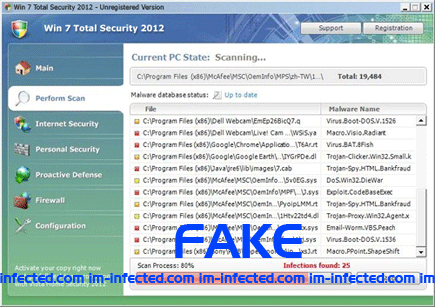 Win 7 Total Security 2012 Scanner