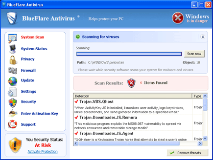 BlueFlare Antivirus Scanner