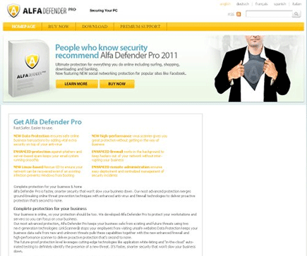 Alfa Defender Pro 2011 Scanner