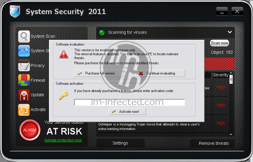 System Security 2011 Scanner