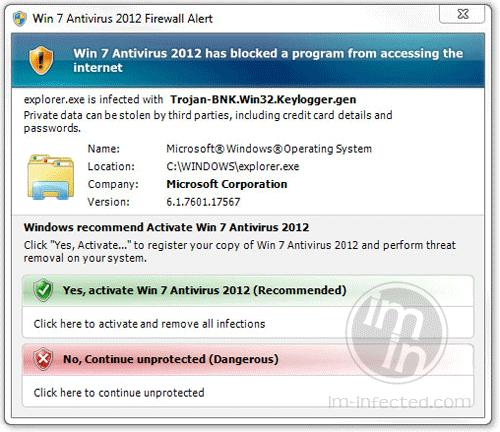 Win 7 Antivirus 2012 Firewall Alert