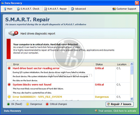 Image of Data Recovery virus