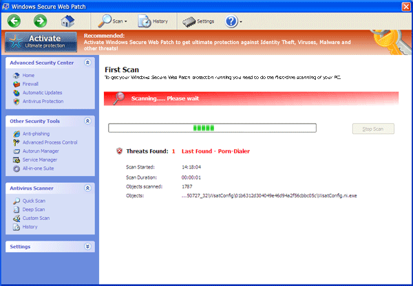 Windows Secure Web Patch Scanner