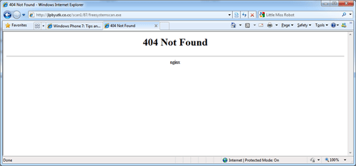 nginx Trojan (Welcome, 404 not found, 403 Forbidden) - VirusPup