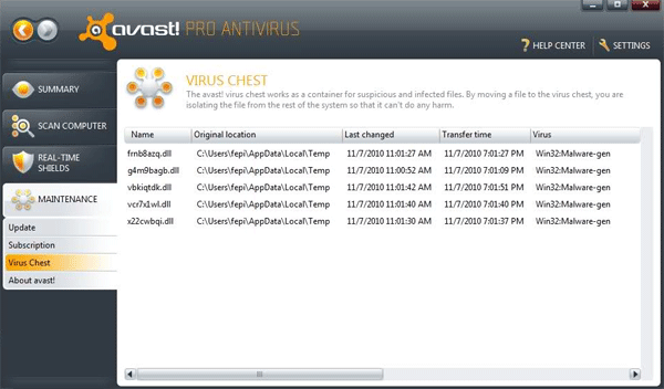 Win32:Malware-gen Detection by Avast