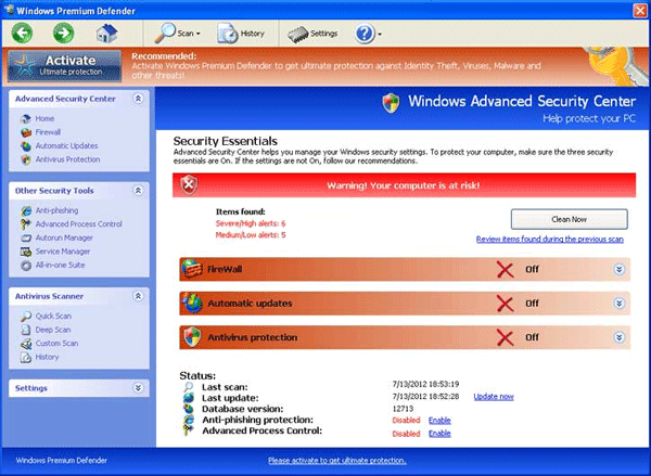 Windows Premium Defender Scanner