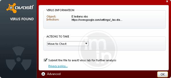 JS:Blacole-AV [Trj] Detected by Avast