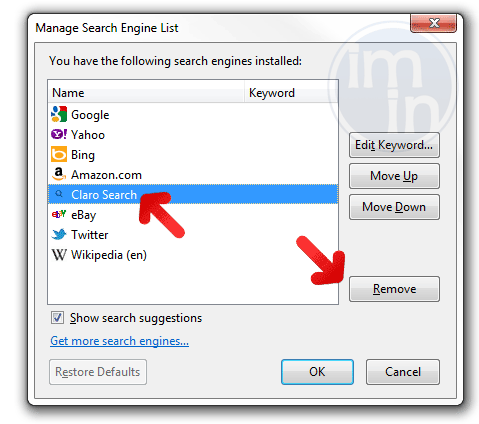 claro-search.com Firefox