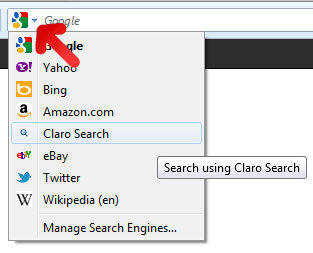 Claro Search Firefox