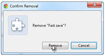 Confirm Fast Save Removal