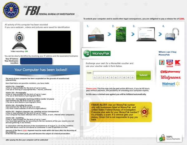 FBI MoneyPak Virus Image 3