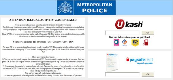 Metropolitan Police Ukash Desktop