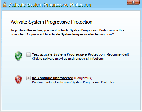 System Progressive Protection Registration