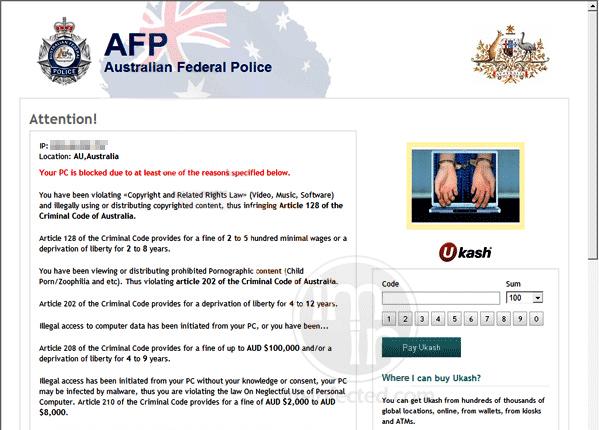 Fake Australian Federal Police