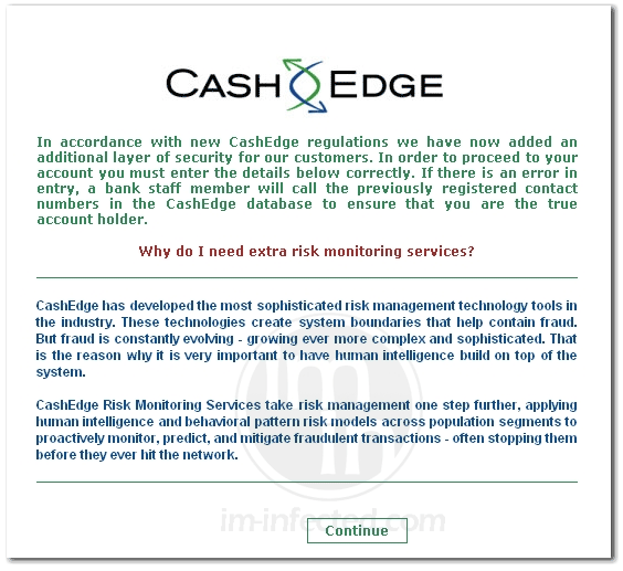 Cash Edge Virus