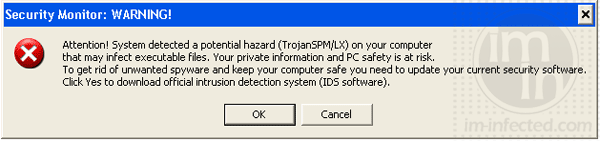 Security Monitor Warning