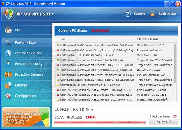 XP Antivirus 2013 Virus