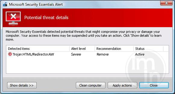 Trojan:HTML/Redirector.AW