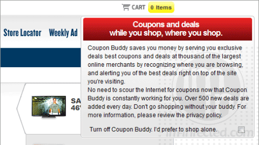Coupon Buddy Pop-up