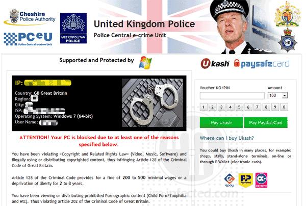 Fake United Kingdom Police