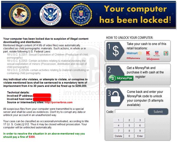 """Your Computer has been locked!"""