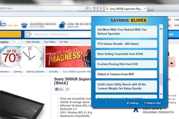 Savings Slider Coupons
