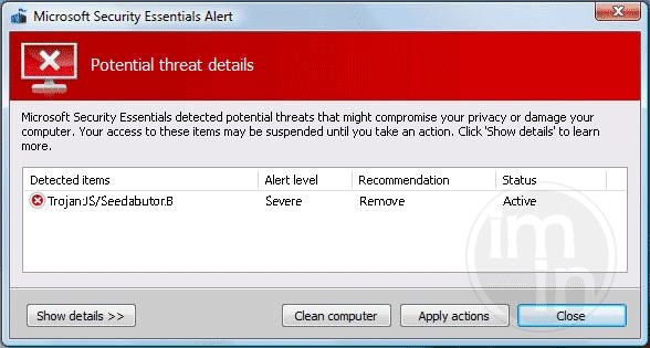 Trojan:JS/Seedabutor.B