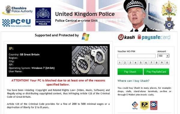 Cheshire Police Virus